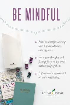 Young Living Essential Oils: Be Mindful | Love this! Diffuse oils plus a coloring book! WWW.THESAVVYOILER.COM