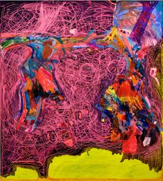 Joanne Greenbaum, _Untitled_ (2014), oil, ink, acrylic and flashe marker on canvas