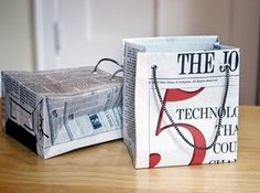 Gift Bags / 35 New Uses For Old Newspapers And Magazines (via BuzzFeed)
