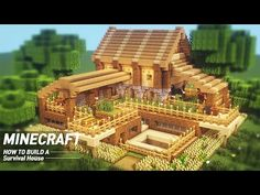 Ultimate Minecraft Survival Base With Everything You Want To Surviveal : Minecraft how to build Plans Minecraft, Minecraft Building Guide, Minecraft Houses Survival, Easy Minecraft Houses, Minecraft House Tutorials, Minecraft House Designs, Minecraft Decorations, Amazing Minecraft, Minecraft Tutorial