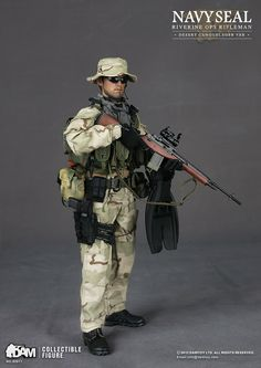 toyhaven: Preview DAM 1/6 US Navy SEAL Riverine Ops Rifleman (Desert Camo version) 12-inch Figure