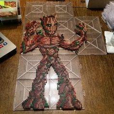 Groot - Guardians of the Galaxy perler bead sprite by klep2024