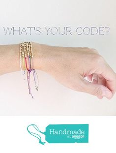 Custom Morse Code Bracelet - Create Your Own Morse Code Bracelet 14k Gold Beads Secret Message Personalized and Handmade Bracelet from Adorn512 https://www.amazon.com/dp/B01NAYY05L/ref=hnd_sw_r_pi_dp_8.EWyb2ARDX3S #handmadeatamazon