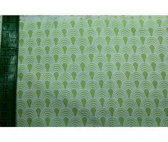 lemongrüne Baumwolle mit graphischem Muster
