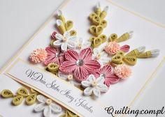 Ślubny bukiet - quilling, greeting card, handmade card