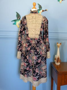Vintage 60s Phool Indian Cotton Floral Dress size small -£35.00 or Best Offer
