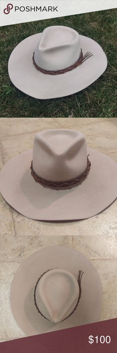 756876f34e9089 Genuine Cowboy / Cowgirl Hat Stone color, authentic cowgirl / cowboy hat,  size 6