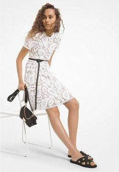 White Crocheted A-Line Lace Cotton Summer Cocktail Dress. Women's White Short Sleeve Lace A-Line Summer Dress. Women's white lace A-line silhouette, while a sand-hued lining enhances its intricate paisley pattern.     #Fashion  #OOTD  #Style  #LookBook  #OutfitOfTheDay #LookOfTheDay #Fashionista #FashionStylist #StreetStyle #Stylish  #WomensFashion #FashionStyle White Lace Cocktail Dress, Cocktail Dresses With Sleeves, Floral Lace Dress, Romantic Lace, Mesh Dress, Paisley Pattern, Mini Dresses, Summer Dresses For Women, Pattern Fashion