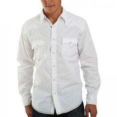 white button down+ jeans = handsome man Long Sleeve Shirt Dress, Dress Shirt, Button Downs, Button Down Shirt, White Button Down, Western Dresses, Handsome Man, Well Dressed, Arizona