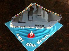 Navy Ship cake