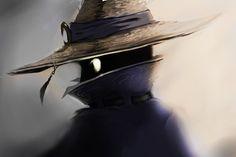 Black Mage: A Portrait by CeruleanRaven.deviantart.com on @deviantART