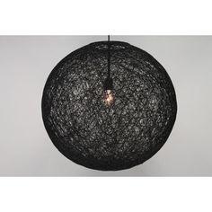 Hanglamp zwart bol touw ROPE I | groot Ø 60 cm