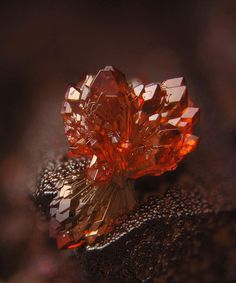 Strengite crystals (FePO4 · 2H2O) are typically prismatic and can be aggregate like the one shown.