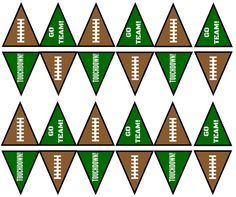 football party food Printable Football Banners For Your Snack Stadium! Football Party Decorations, Football Party Foods, Nfl Party, Football Parties, 1st Birthday Party Themes, 1st Boy Birthday, Birthday Pins, Birthday Ideas, Football Banner