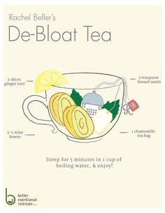 Wanna rock a flat tummy?  Check out my de-bloat tea trick of the trade.  #detox http://www.bellernutritionalinstitute.com/blog/de-bloat-tea