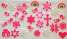 Hama jule perleplader i neonpink anno 2012. Hama Christmas beads... Kreeret af Susanne Randers