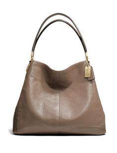 Coach Madison Small Phoebe Leather Shoulder Bag