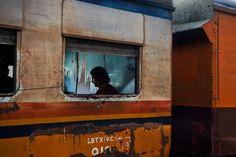 "Steve McCurry :: from ""Travellers"" gallery :: Yangon -Mandalay line, Myanmar/Burma"