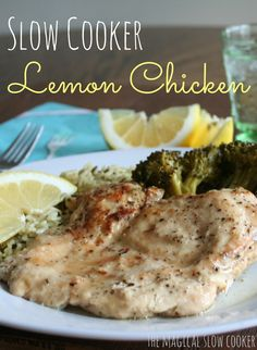 This slow cooker lemon chicken and broccoli recipe is seriously the best chicken dish you will ever make.