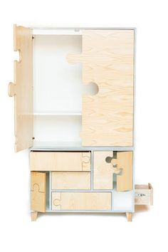 Ash puzzle Armoire by Seed furniture