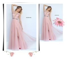 """""""Sherri Hill 50029 Blush A Line Long Homecoming Dress"""" by xipowuriluh on Polyvore featuring dress and Homecoming"""