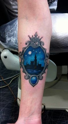 With Sleeping Beauty's castle for a Disney tattoo????