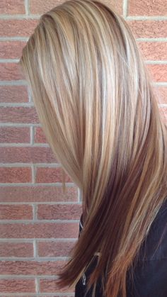 Blonde with red lowlights
