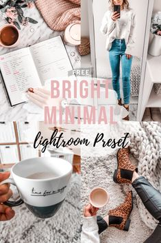Free Lightroom Preset Bright Minimal - Cappuccino and Fashion Photography Software, Photography Cheat Sheets, Photography Editing, Photo Editing, Life Photography, Children Photography, Free Instagram, Instagram Blog, Lightroom Tutorial