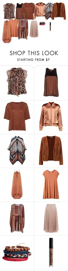 """Brown 2"" by azra-99 on Polyvore featuring Temperley London, Brunello Cucinelli, Theory, Boohoo, Topshop, Sandro, RVCA, P.A.R.O.S.H., Warehouse and Charlotte Russe"