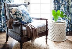 Pattern on pattern featuring Schumacher's Chiang Mai Dragon | Design by  Hillary Thomas