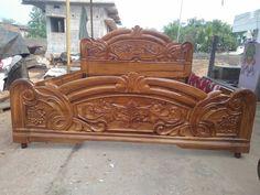 Bedroom Furniture For Sale, Bed Furniture, Furniture Design, Wood Design, Modern Design, Box Bed Design, Furniture Dressing Table, Temple Design For Home, Double Bed Designs