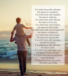 Children Learn What They Live: 10 Tips for Raising Confident Boys