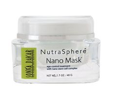 Sonya Dakar NutraSphere Nano Mask 1.7oz (48g) by Sonya Dakar. $85.00. Non-greasy; Rich in natural botanic hydrating oils such as apricot, buriti, jojoba, and shea butter; 98% natural and non-irritating; fragrance-free; soap-free; dye-free, paraben-free; Skin shows signs of improved hydration, refined texture and increased firmness after one use. More than just a mask, this anti aging treatment shows signs of improved hydration, refined texture and increased firmness of sk...