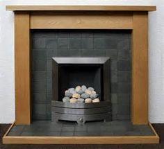 Stacked Slate Tile Fireplace Slate Fireplaces Slate Stone