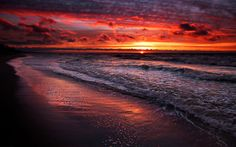 Isn't this a beautiful Photo? An amazing sunset. Most people that know me know that I love the Ocean and the beach. And I am truly a mis. Sunset Pictures, Beach Pictures, Cool Pictures, Amazing Photos, Amazing Sunsets, Beautiful Sunset, Beautiful Places, Amazing Places, Photos Bff
