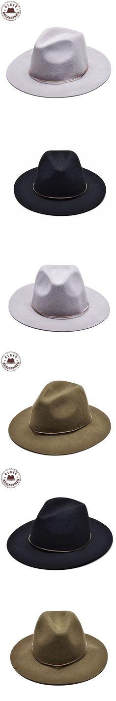cec12d96ae5 Vintage unisex wool Jazz hats large brim felt cloche cowboy panama fedora  hat for women mens black trilby derby fedoras