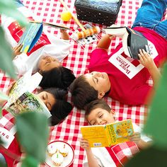 Keep kids reading all summer! Try bringing books outside