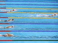 Katie Ledecky breaks away to win gold during the 400-meter freestyle.