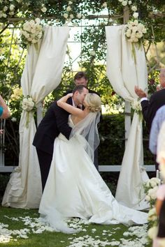 This is what I was thinking for the alter, I have extra curtain rods too. outdoor wedding arches and other ideas