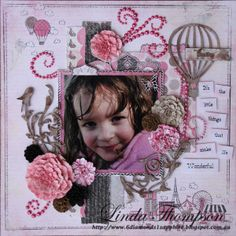 Lots of Pretties with Linda Thompson Wow this year is flying by, I've been super busy this month with lots of extra commitments so I . Maze Design, Linda Thompson, Flourish, Bling, Memories, Pretty, Projects, Memoirs, Log Projects