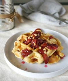 Peanut Butter and Jelly Waffles | We'll never tire of the classic sweet and salty combo—so why restrict it to brown bag lunches? These PB&J recipes span every meal of the day, from smoothies and granola to decadent ice cream sammies.