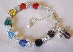 Swarovski chakra bracelet for Kat www.reneewayne.weebly.com