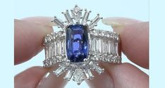 GIA 6.09 ct UNHEATED Natural VVS Color Change Sapphire Diamond 14k Gold Ring