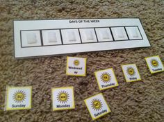 Days of the Week Sequence Velcro Board! Start from any day of the week! http://www.teacherspayteachers.com/Product/Days-of-the-Week-and-Months-of-the-Year-Sequence-Boards-for-Autism-401475