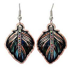 Feather Copper Earrings
