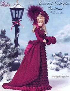 1875 Winter Carriage Costume             Vol 29 Paradise Crochet Pattern