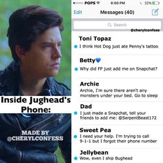 I made another one of these, enjoy Jughead's text messages - ❧ which character should I do next?