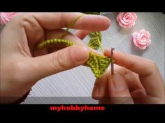 Tığ İşi Yaprak Motifi Yapımı (Uygulamalı, Ayrıntılı, Sesli, Uzun Anlatım) - YouTube