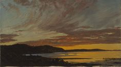 Frederic Edwin Church Sunset, Bar Harbor, circa 1854 oil on paper mounted on canvas 10 1/8 x 17 1/4 in.