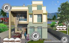 House Front Elevation Simple Designs with Low Cost Cute 2 Floor HomesHouse Front Elevation Simple Designs with Very Wide and Spacious Low Budget High Quality Materials For Build Your Dream Home Construction Design Gallery Best Modern House Design, Cool House Designs, Simple Designs, Home Design Images, House Design Pictures, Beautiful Home Designs, Beautiful Homes, Indian Home Design, 4 Bedroom House Plans